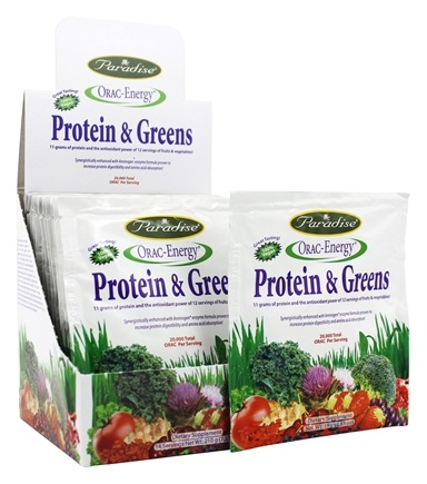 Paradise Herbs - Orac-Energy Protein & Greens - 14 Packet(s)
