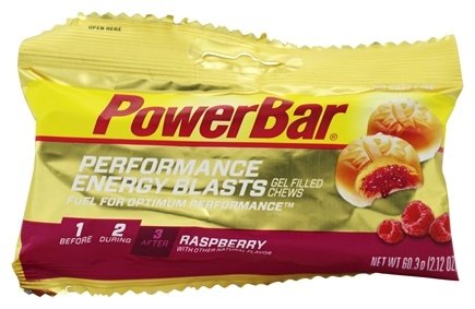 PowerBar - Performance Energy Blasts Gel Filled Chews Raspberry - 2.12 oz.