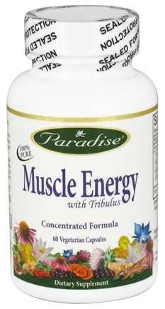 DROPPED: Paradise Herbs - Muscle Energy with Tribulus - 60 Vegetarian Capsules CLEARANCED PRICED