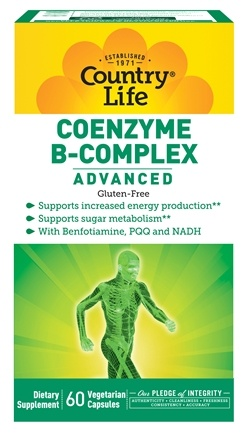 DROPPED: Country Life - Coenzyme B-Complex Advanced - 60 Vegetarian Capsules CLEARANCE PRICED
