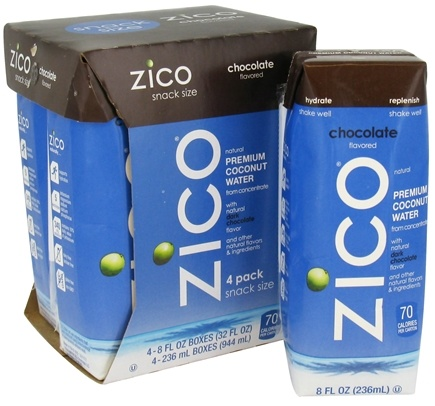 DROPPED: Zico - Pure Premium Coconut Water Chocolate - 4 x 8 oz. Boxes