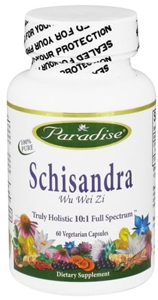 DROPPED: Paradise Herbs - Schisandra Wu Wei Zi - 60 Vegetarian Capsules CLEARANCE PRICED