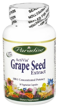 DROPPED: Paradise Herbs - Activan Grape Seed Extract - 30 Vegetarian Capsules CLEARANCE PRICED