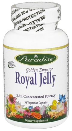 DROPPED: Paradise Herbs - Golden Emperor Royal Jelly - 30 Vegetarian Capsules