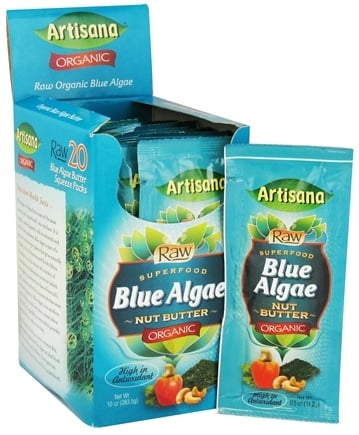DROPPED: Artisana - Raw Organic Superfood Nut Butter Squeeze Pack Blue Algae - 0.5 oz.