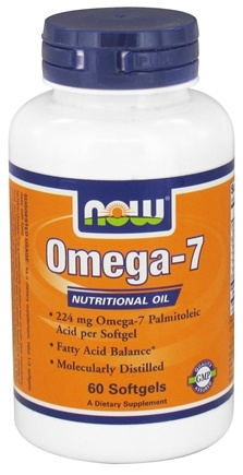 DROPPED: NOW Foods - Omega-7 Nutritional Oil - 60 Softgels