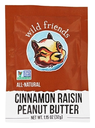 Wild Friends - All Natural Peanut Butter Cinnamon Raisin - 1.15 oz.