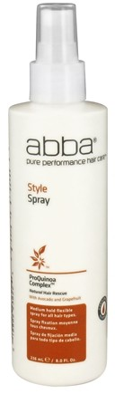DROPPED: Abba Pure Performance Hair Care - Style Spray - 8 oz. CLEARANCE PRICED