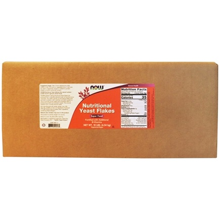 NOW Foods - Nutritional Yeast Flakes - 10 lbs.