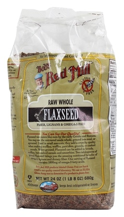 Bob's Red Mill - Natural Raw Whole Brown Flaxseed - 24 oz.