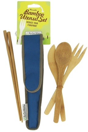 DROPPED: To-Go Ware - RePEaT Bamboo Reusable Utensil Set Indigo