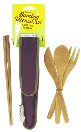 DROPPED: To-Go Ware - RePEaT Bamboo Reusable Utensil Set Mulberry