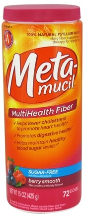 DROPPED: Metamucil - MultiHealth Psyllium Fiber Powder Berry Smooth - 15 oz. CLEARANCE PRICED