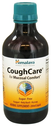 DROPPED: Himalaya Herbal Healthcare - CoughCare for Mucosal Comfort Liquid Sugar Free - 200 ml. CLEARANCE PRICED