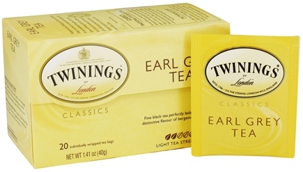DROPPED: Twinings of London - Classics Earl Grey Tea - 20 Tea Bags CLEARANCED PRICED