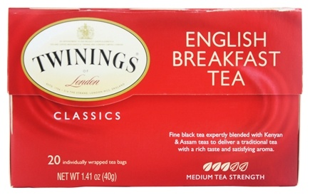 Twinings of London - Classics English Breakfast Tea - 20 Tea Bags