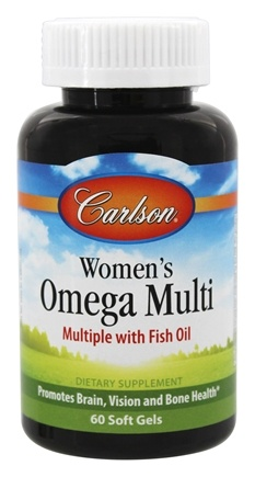 DROPPED: Carlson Labs - Right 1 Daily Multiple Vitamin With Fish Oil - 60 Softgels CLEARANCE PRICED