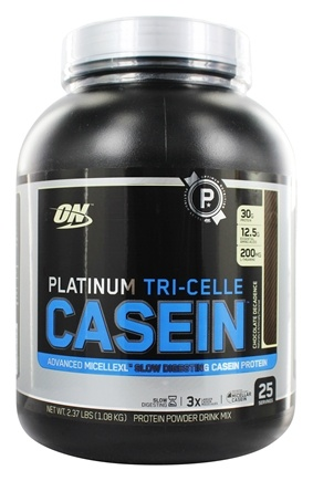 Optimum Nutrition - Platinum Tri-Celle Casein Chocolate Decadence - 2.37 lbs.