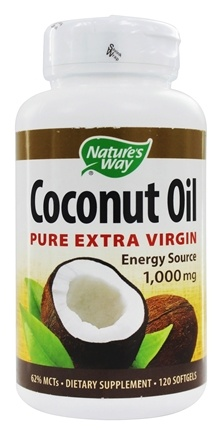 Nature's Way - Coconut Oil 1000 mg. - 120 Softgels