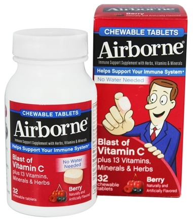 DROPPED: Airborne - Chewable Immune Support Berry - 32 Chewable Tablets