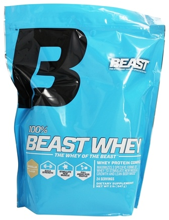 DROPPED: Beast Sports Nutrition - 100% Beast Whey Protein Vanilla - 2 lbs.