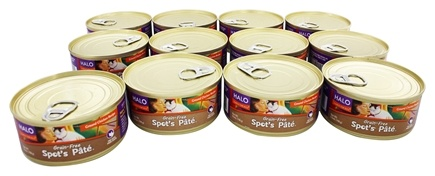Halo Purely for Pets - Spot's Pate For Cats Ground Chicken - 12 Can(s)