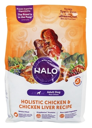 DROPPED: Halo Purely for Pets - Spot's Stew For Dogs Adult Dog Formula Wholesome Chicken Recipe - 4 lbs. CLEARANCE PRICED