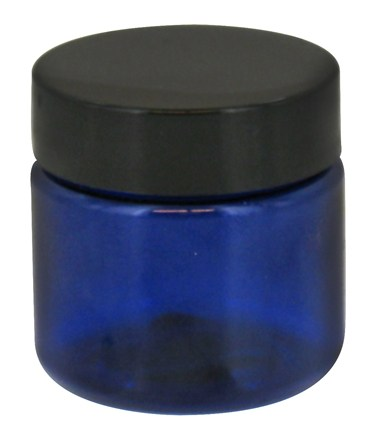 DROPPED: Wyndmere Naturals - Cobalt Blue Plastic Jar with Lid - 1 oz. CLEARANCED PRICED
