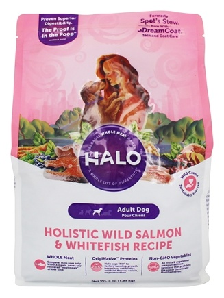 Halo Purely for Pets - Spot's Stew For Dogs Wild Salmon Recipe - 4 lbs.