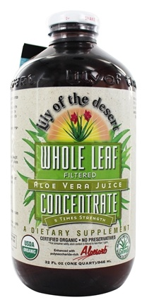 Lily Of The Desert - Organic Aloe Vera Juice Whole Leaf Concentrate - 32 oz.