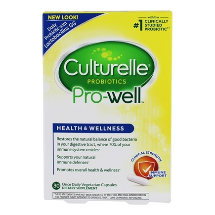 Culturelle - Probiotic Health & Wellness - 30 Capsules