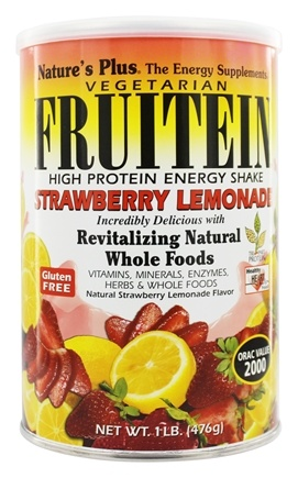 DROPPED: Nature's Plus - Vegetarian Fruitein Strawberry Lemonade - 1 lb.