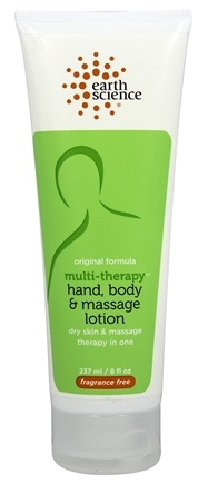 Earth Science - Multi-Therapy Hand, Body & Massage Lotion Original Formula Fragrance Free - 8 oz.