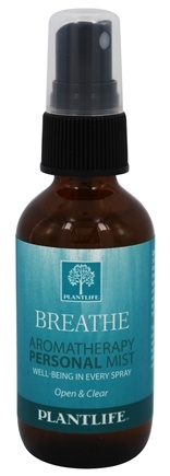 DROPPED: Plantlife Natural Body Care - Aromatherapy Personal Mist Breathe - 2 oz. CLEARANCE PRICED