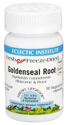 DROPPED: Eclectic Institute - Raw Goldenseal Root - 50 Vegetarian Capsules CLEARANCED PRICED