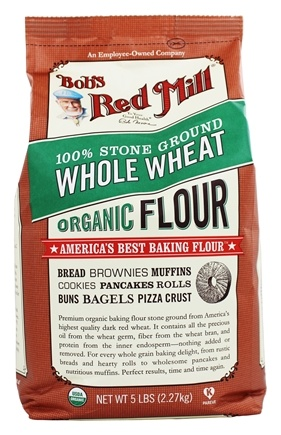 Bob's Red Mill - Organic Whole Wheat Flour - 5 lbs.
