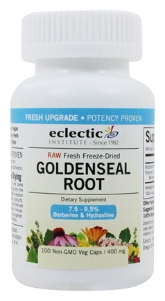 Eclectic Institute - Raw Goldenseal Root - 100 Vegetarian Capsules