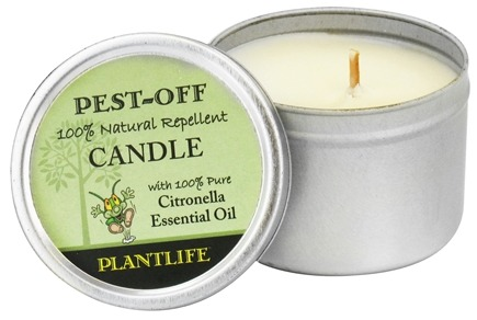 DROPPED: Plantlife Natural Body Care - Pest-Off Candle - 1 Count CLEARANCE PRICED
