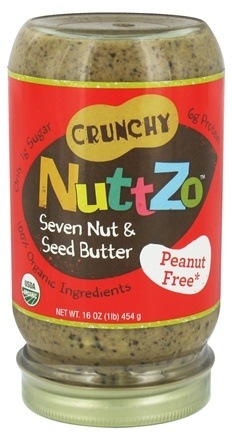 NuttZo - Organic Omega-3 Seven Nut & Seed Butter No Peanuts - 16 oz.
