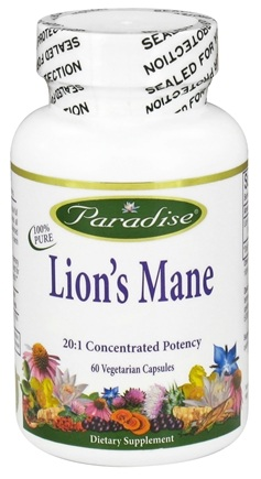 DROPPED: Paradise Herbs - Lion's Mane - 60 Vegetarian Capsules