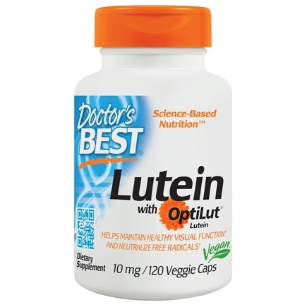 Doctor's Best - Lutein with OptiLut - 120 Vegetarian Capsules