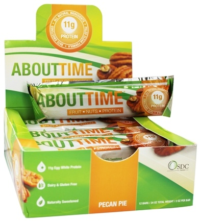 DROPPED: About Time - Fruit Nuts and Protein Bar Pecan Pie - 2 oz.
