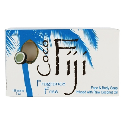 Organic Fiji - Face and Body Coconut Oil Bar Soap Fragrance Free - 7 oz.