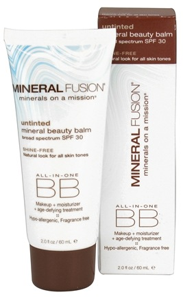 DROPPED: Mineral Fusion - BB Creme All-In-One Mineral Beauty Balm Untinted Shine-Free 30 SPF - 2 oz. CLEARANCE PRICED