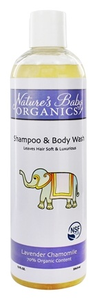 DROPPED: Nature's Baby Organics - Shampoo & Body Wash Lavender Chamomile - 12 oz.