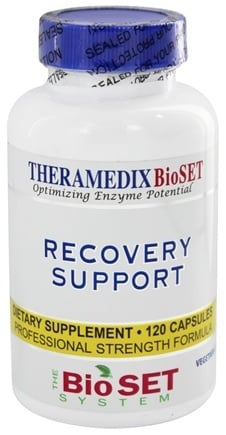 DROPPED: Theramedix - BioSet Recovery Support - 120 Vegetarian Capsules