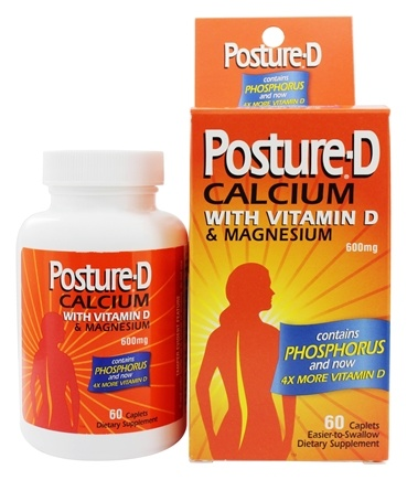 Posture-D - Calcium with Vitamin D & Magnesium 600 mg. - 60 Caplets