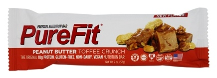 DROPPED: PureFit - All-Natural Nutrition Bar Peanut Butter Toffee Crunch - 2 oz.