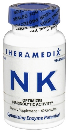 DROPPED: Theramedix - NK Nattokinase Formula - 60 Vegetarian Capsules CLEARANCED PRICED