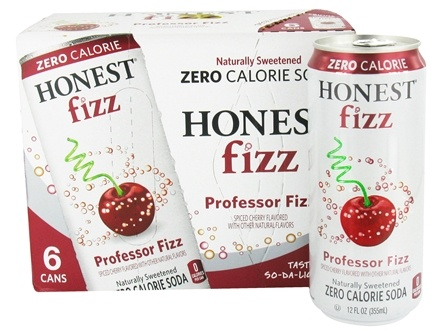 DROPPED: Honest Fizz - Zero Calorie Soda Cherry Flavored  Professor Fizz - 6 x 12 oz. Cans